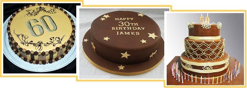 фото вариантов оформления классического торта: оформление тортов на юбилей №4