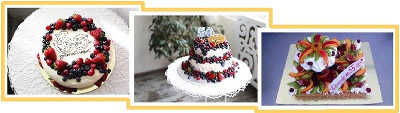 фото вариантов оформления фруктового торта: оформление тортов на юбилей