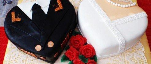 оформление тортов на юбилей №2