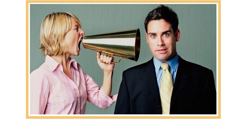 фото женщины кричащей на парня: веселый сценарий для корпоратива
