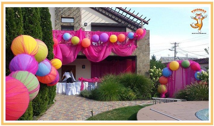оформление шарами детского дня рождения №12