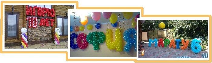 оформление шарами детского дня рождения №15