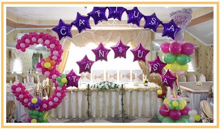 оформление шарами детского дня рождения №17