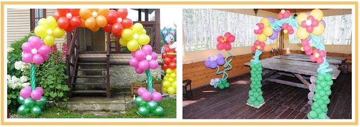 оформление шарами детского дня рождения №18