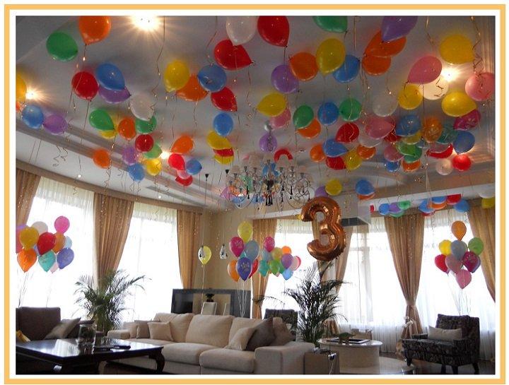 оформление шарами детского дня рождения №2